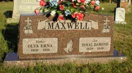 MAXWELL, DOYAL DAMOND - Logan County, Arkansas | DOYAL DAMOND MAXWELL - Arkansas Gravestone Photos