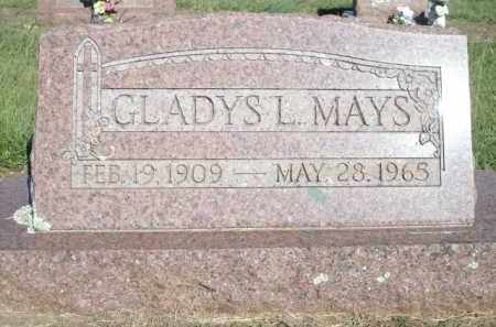 MAYS, GLADYS L. - Logan County, Arkansas | GLADYS L. MAYS - Arkansas Gravestone Photos