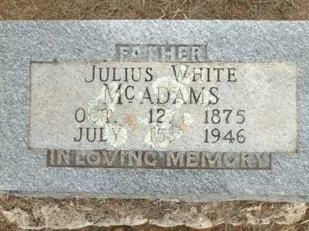 MCADAMS, JULIS WHITE - Logan County, Arkansas | JULIS WHITE MCADAMS - Arkansas Gravestone Photos