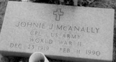 MCANALLY (VETERAN WWII), JOHNIE - Logan County, Arkansas | JOHNIE MCANALLY (VETERAN WWII) - Arkansas Gravestone Photos