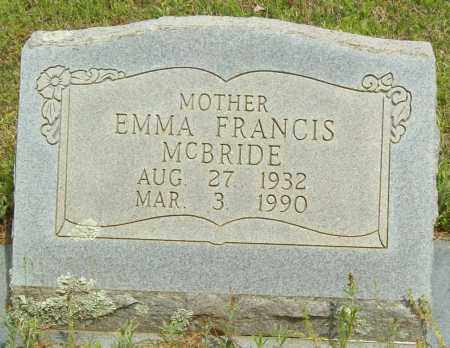 MCBRIDE, EMMA FRANCIS - Logan County, Arkansas | EMMA FRANCIS MCBRIDE - Arkansas Gravestone Photos