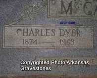MCCASLIN, CHARLES DYER (CLOSEUP) - Logan County, Arkansas | CHARLES DYER (CLOSEUP) MCCASLIN - Arkansas Gravestone Photos
