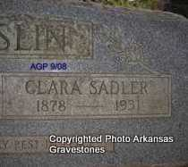 SADLER MCCASLIN, CLARA (CLOSEUP) - Logan County, Arkansas | CLARA (CLOSEUP) SADLER MCCASLIN - Arkansas Gravestone Photos