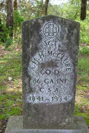 MCCLURE (VETERAN CSA), A H H - Logan County, Arkansas | A H H MCCLURE (VETERAN CSA) - Arkansas Gravestone Photos