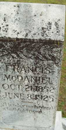 MCDANIEL, FRANCIS - Logan County, Arkansas | FRANCIS MCDANIEL - Arkansas Gravestone Photos