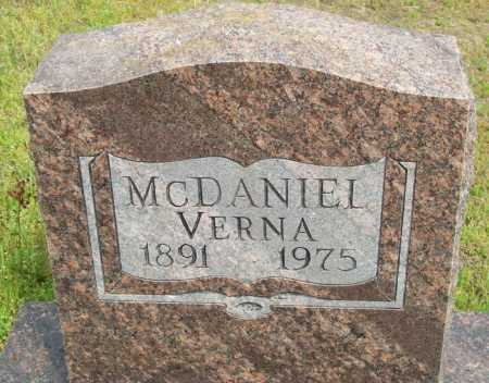 MCDANIEL, VERNA - Logan County, Arkansas | VERNA MCDANIEL - Arkansas Gravestone Photos