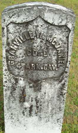 MCDANIEL (VETERAN UNION), GRANVILLE W - Logan County, Arkansas | GRANVILLE W MCDANIEL (VETERAN UNION) - Arkansas Gravestone Photos