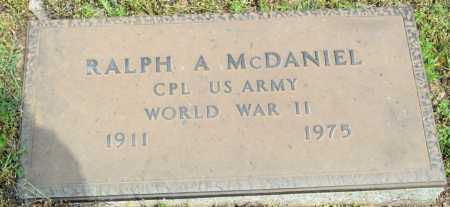 MCDANIEL (VETERAN WWII), RALPH A - Logan County, Arkansas | RALPH A MCDANIEL (VETERAN WWII) - Arkansas Gravestone Photos