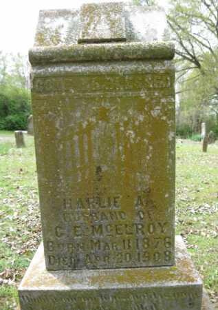 MCELROY, HARLIE - Logan County, Arkansas | HARLIE MCELROY - Arkansas Gravestone Photos