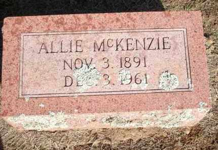 MCKENZIE, ALLIE - Logan County, Arkansas | ALLIE MCKENZIE - Arkansas Gravestone Photos