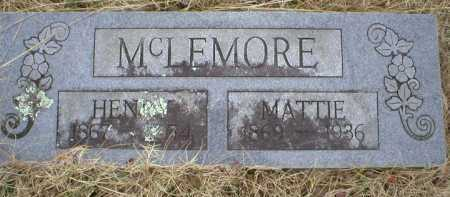 MCLEMORE, HENRY - Logan County, Arkansas | HENRY MCLEMORE - Arkansas Gravestone Photos