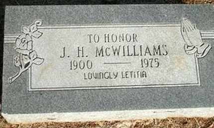 MCWILLIAMS, J.H. - Logan County, Arkansas | J.H. MCWILLIAMS - Arkansas Gravestone Photos