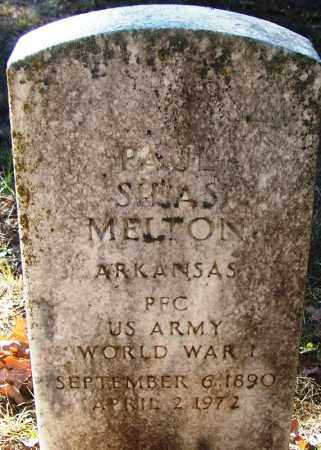 MELTON (VETERAN WWI), PAUL SILAS - Logan County, Arkansas | PAUL SILAS MELTON (VETERAN WWI) - Arkansas Gravestone Photos