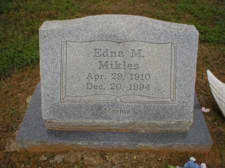 MIKLES, EDNA M. - Logan County, Arkansas | EDNA M. MIKLES - Arkansas Gravestone Photos
