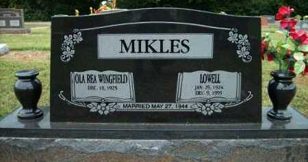 MIKLES, LOWELL - Logan County, Arkansas | LOWELL MIKLES - Arkansas Gravestone Photos