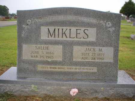 MIKLES, SALLIE - Logan County, Arkansas | SALLIE MIKLES - Arkansas Gravestone Photos