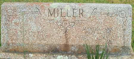 MILLER, MARTHA ANN - Logan County, Arkansas | MARTHA ANN MILLER - Arkansas Gravestone Photos