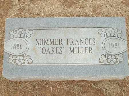 "MILLER, SUMMER FRANCES ""OAKES"" - Logan County, Arkansas 