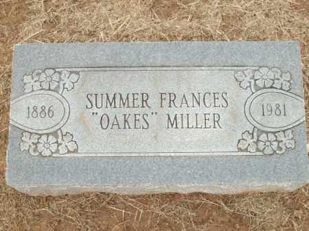 """MILLER, SUMMER FRANCES """"OAKES"""" - Logan County, Arkansas   SUMMER FRANCES """"OAKES"""" MILLER - Arkansas Gravestone Photos"""