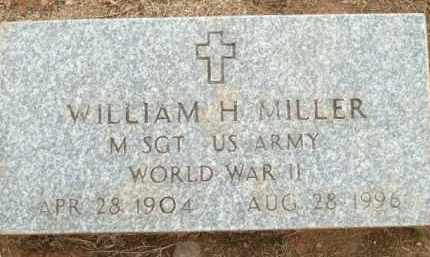 MILLER (VETERAN WWII), WILLIAM H - Logan County, Arkansas | WILLIAM H MILLER (VETERAN WWII) - Arkansas Gravestone Photos
