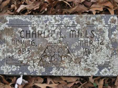 MILLS, CHARLIE L. - Logan County, Arkansas | CHARLIE L. MILLS - Arkansas Gravestone Photos