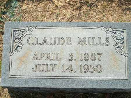 MILLS, CLAUDE - Logan County, Arkansas | CLAUDE MILLS - Arkansas Gravestone Photos