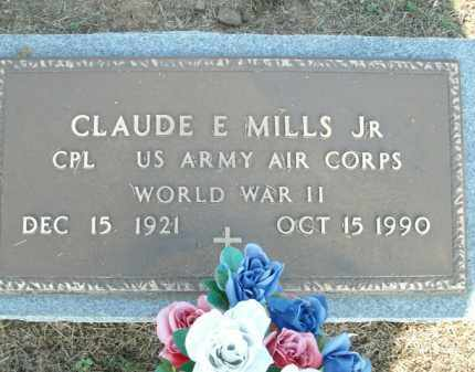 MILLS, JR. (VETERAN WWII), CLAUDE E - Logan County, Arkansas | CLAUDE E MILLS, JR. (VETERAN WWII) - Arkansas Gravestone Photos