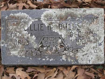MILLS, LILLIE M - Logan County, Arkansas | LILLIE M MILLS - Arkansas Gravestone Photos