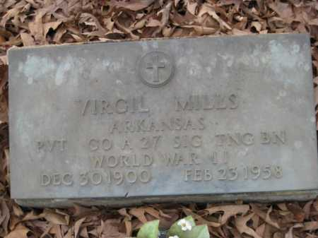 MILLS (VETERAN WWII), VIRGIL - Logan County, Arkansas | VIRGIL MILLS (VETERAN WWII) - Arkansas Gravestone Photos