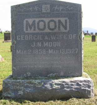 MOON, GEORGIE A. - Logan County, Arkansas | GEORGIE A. MOON - Arkansas Gravestone Photos