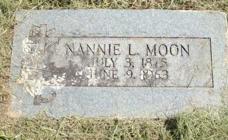 MOON, NANNIE L - Logan County, Arkansas | NANNIE L MOON - Arkansas Gravestone Photos