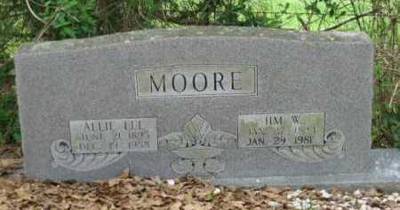 MOORE, ALLIE LEE - Logan County, Arkansas | ALLIE LEE MOORE - Arkansas Gravestone Photos