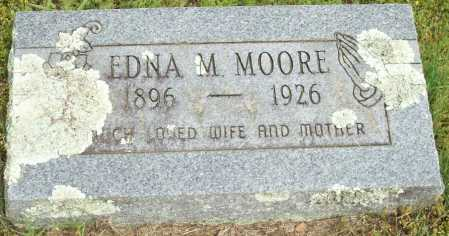 MOORE, EDNA M. - Logan County, Arkansas | EDNA M. MOORE - Arkansas Gravestone Photos