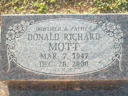 MOTT, DONALD RICHARD - Logan County, Arkansas | DONALD RICHARD MOTT - Arkansas Gravestone Photos