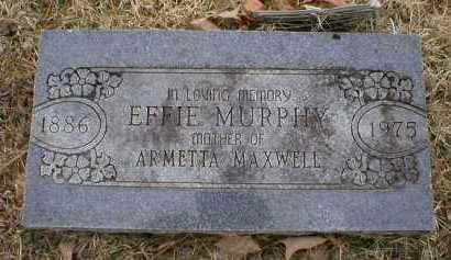 MURPHY, EFFIE - Logan County, Arkansas | EFFIE MURPHY - Arkansas Gravestone Photos