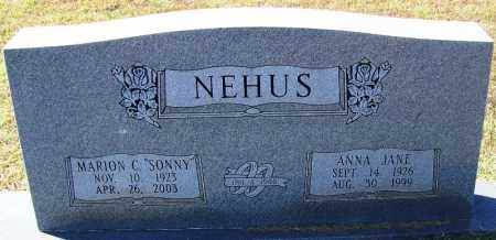 NEHUS, ANNA JANE - Logan County, Arkansas | ANNA JANE NEHUS - Arkansas Gravestone Photos