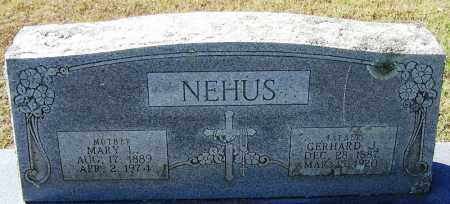NEHUS, GERHARD J - Logan County, Arkansas | GERHARD J NEHUS - Arkansas Gravestone Photos