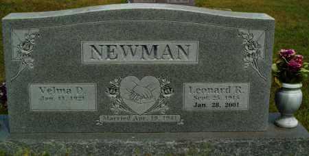 NEWMAN, LEONARD R. - Logan County, Arkansas | LEONARD R. NEWMAN - Arkansas Gravestone Photos