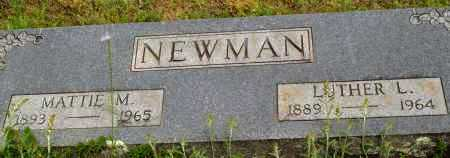 NEWMAN, LUTHER L. - Logan County, Arkansas | LUTHER L. NEWMAN - Arkansas Gravestone Photos