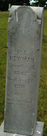 NEWMAN, P.A. - Logan County, Arkansas | P.A. NEWMAN - Arkansas Gravestone Photos