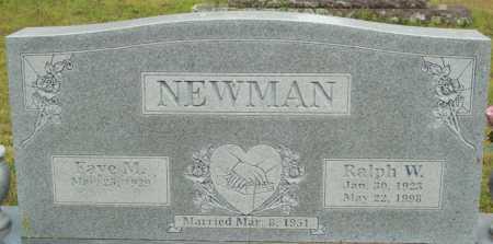 NEWMAN, RALPH W. - Logan County, Arkansas | RALPH W. NEWMAN - Arkansas Gravestone Photos