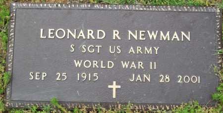 NEWMAN (VETERAN WWII), LEONARD R - Logan County, Arkansas | LEONARD R NEWMAN (VETERAN WWII) - Arkansas Gravestone Photos