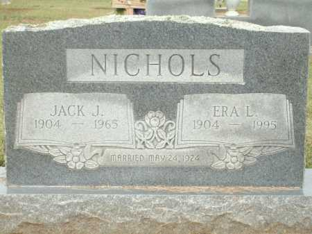 NICHOLS, JACK J. - Logan County, Arkansas | JACK J. NICHOLS - Arkansas Gravestone Photos