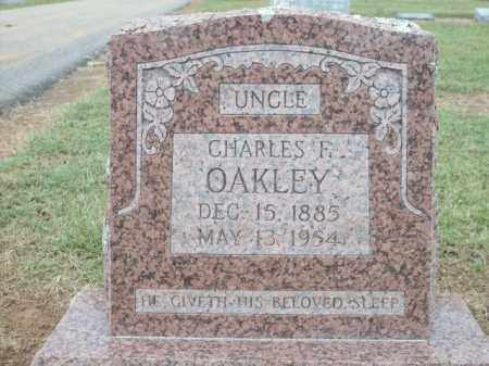 OAKLEY, CHARLES F. - Logan County, Arkansas | CHARLES F. OAKLEY - Arkansas Gravestone Photos