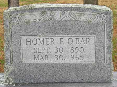 O'BAR, HOMER F. - Logan County, Arkansas | HOMER F. O'BAR - Arkansas Gravestone Photos