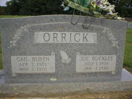 ORRICK, GAIL BUREN - Logan County, Arkansas | GAIL BUREN ORRICK - Arkansas Gravestone Photos