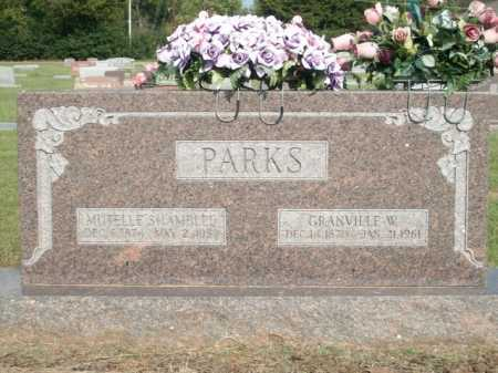 PARKS, MUTELLE SHAMBLEE - Logan County, Arkansas | MUTELLE SHAMBLEE PARKS - Arkansas Gravestone Photos