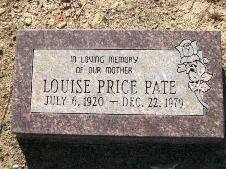 PATE, LOUISE PRICE - Logan County, Arkansas | LOUISE PRICE PATE - Arkansas Gravestone Photos