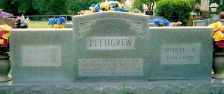 PETTIGREW, ALBERT N - Logan County, Arkansas | ALBERT N PETTIGREW - Arkansas Gravestone Photos