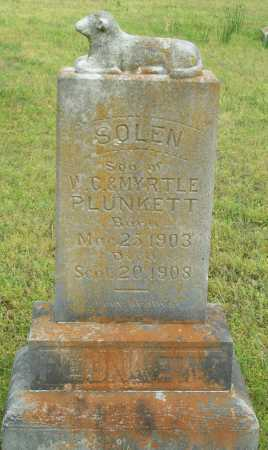 PLUNKETT, SOLEN - Logan County, Arkansas | SOLEN PLUNKETT - Arkansas Gravestone Photos